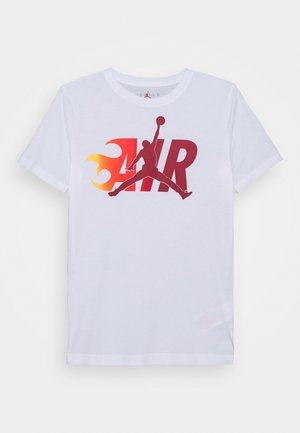 AIR FLAME - T-shirt z nadrukiem - white