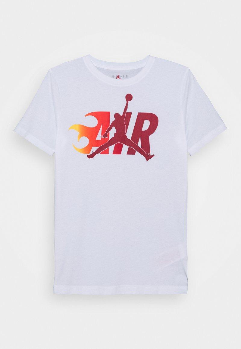 Jordan - AIR FLAME - Triko spotiskem - white