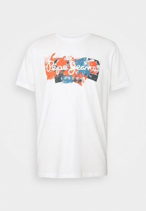 WILLIAM - T-shirt z nadrukiem - white