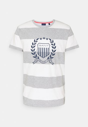 CREST - T-shirt med print - grey melange
