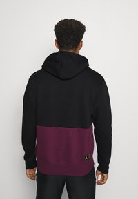 Nike Performance - PARIS ST GERMAIN FLC HOODIE - Klubbkläder - black/bordeaux/metallic gold/white - 2