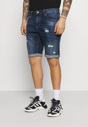 Jeans Short / cowboy shorts - dark blue denim
