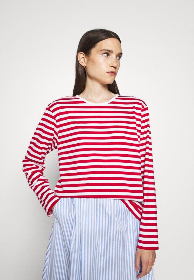 PITKÄHIHA  - Long sleeved top - white/red