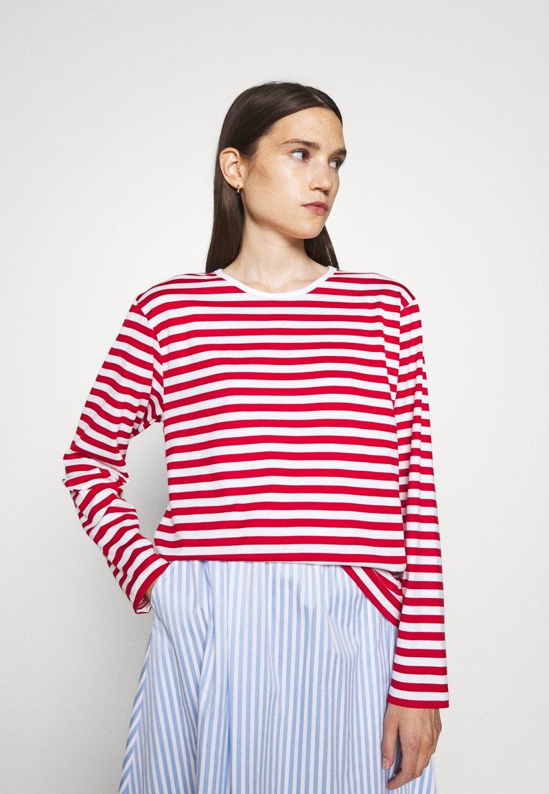 Marimekko - PITKÄHIHA  - Long sleeved top - white/red