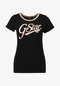 G-Star - GRAPHIC LOGO SLIM - Camiseta estampada - black - 4