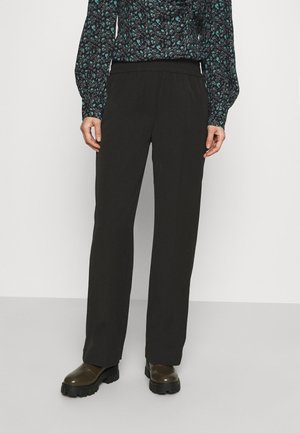 SMILLA STRAIGHT TROUSERS - Bukser - black