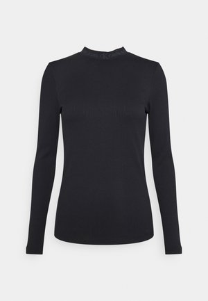 LOGO LONG SLEEVES - Top s dlouhým rukávem - black