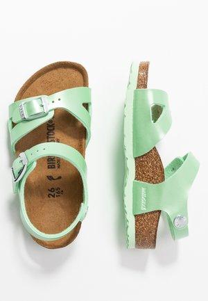 RIO - Sandals - electric metallic mint