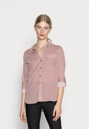 VMBUMPY - Button-down blouse - snow white/chili oil