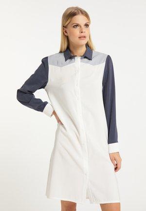 Denní šaty - weiß grau marine