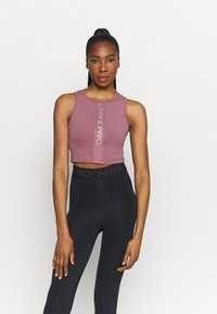 Nike Performance - TANK FEMME  - Funktionsshirt - light mulberry/white - 0