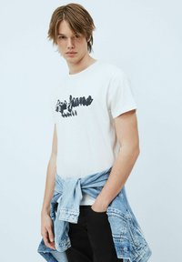 Pepe Jeans - T-shirt med print - blanco off - 0
