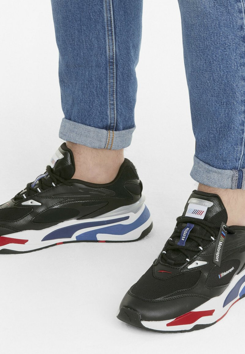 Puma - BMW MMS RS-FAST UNISEX - Sneakers - p black-marina-high risk red