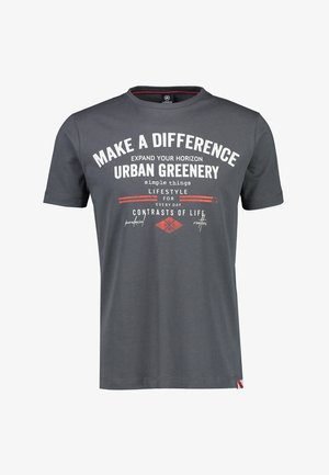 MAKE A DIFFERENCE - Print T-shirt - cement grey