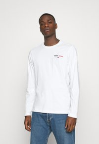 Tommy Jeans - LONGSLEEVE CORP - Maglietta a manica lunga - white - 0