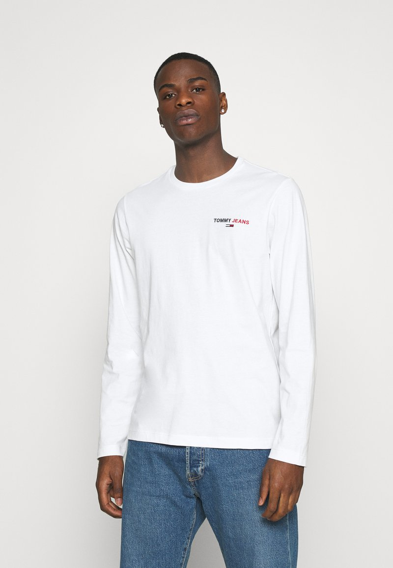 Tommy Jeans - LONGSLEEVE CORP - Maglietta a manica lunga - white