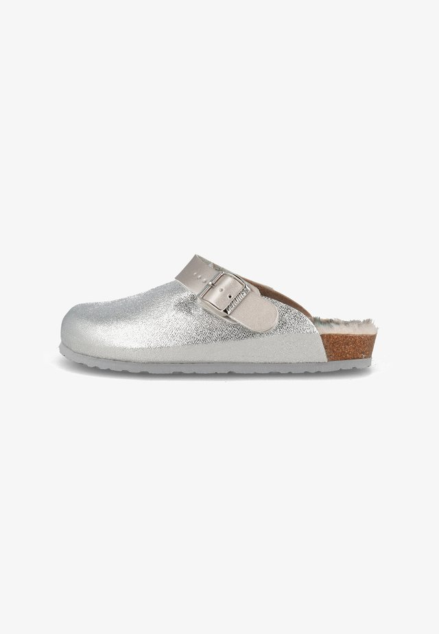 Slippers - silber