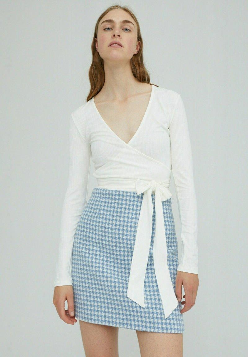 EDITED - SABRINA - Long sleeved top - weiß