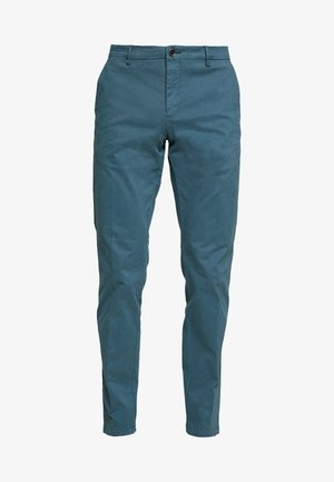 STRETCH SLIM FIT PANTS - Kalhoty - blue