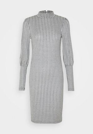 ONLSANDY CHECK DRESS - Korte jurk - light grey melange