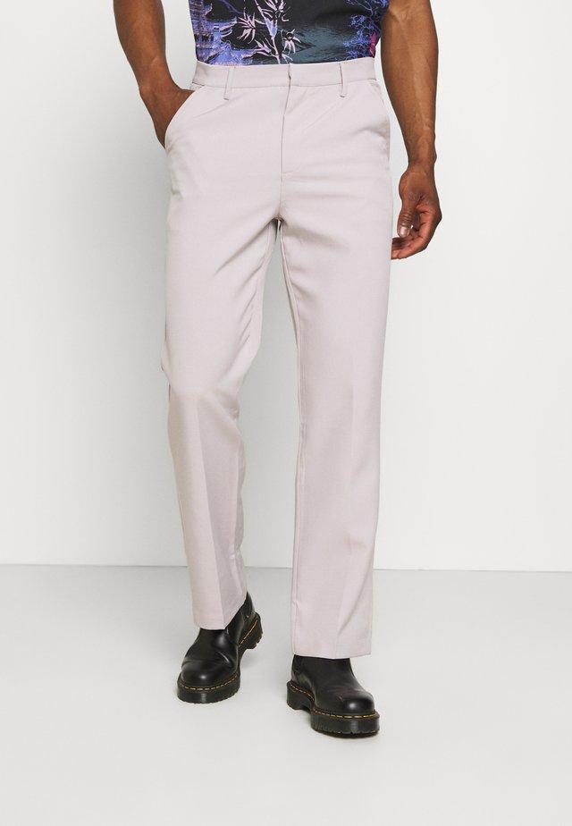 HAVANA CHAIN STRAIGHT TROUSER - Kalhoty - light grey