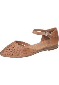 Piazza - Ankle strap ballet pumps - coconut - 1