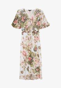 Dorothy Perkins - FLORAL PRINT SEQUIN MIDAXI DRESS - Vestito estivo - blush - 2