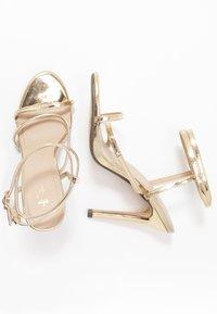 4th & Reckless - AIMEE - Sandály na vysokém podpatku - gold - 3