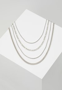 Topman - TWIST CHAIN MROW 4 PACK - Necklace - rhodium-coloured - 0