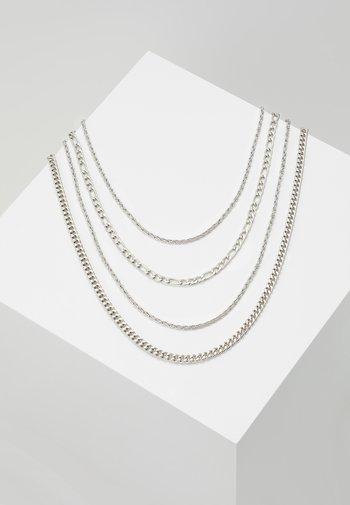 TWIST CHAIN MROW 4 PACK - Necklace - rhodium-coloured