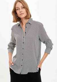 DeFacto - Button-down blouse - ecru - 0