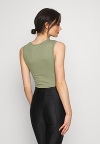 Missguided - SLEEVELESS BODYSUIT 2 PACK - Top - black/khaki - 3