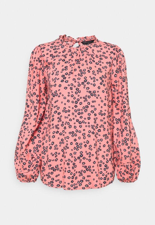 DITSY FRILL NECK - Bluser - light pink