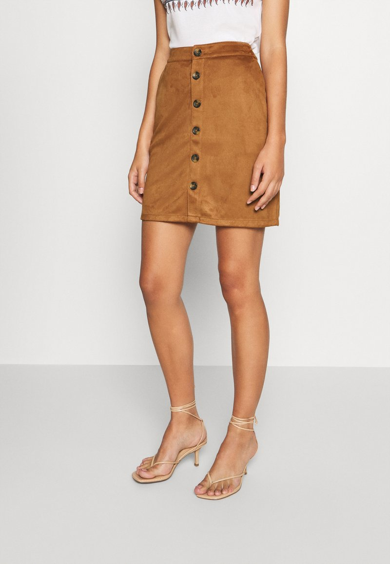 s.Oliver - KURZ - Pencil skirt - brown
