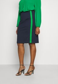 MY TRUE ME TOM TAILOR - PANEL PENCIL SKIRT - Pencil skirt - real navy blue - 0