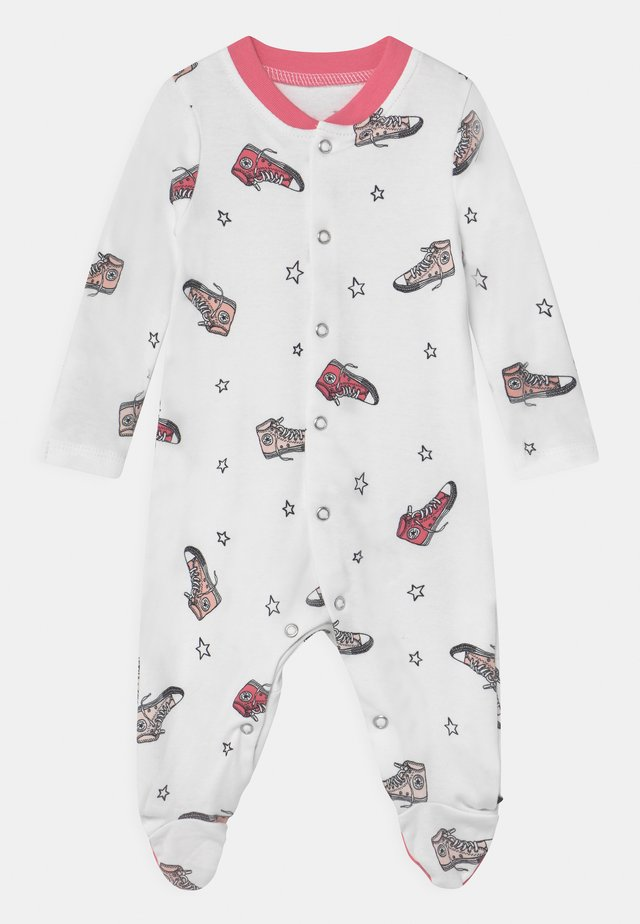SNEAKER PRINTED FOOTED UNISEX - Sleep suit - bright pink lemonade