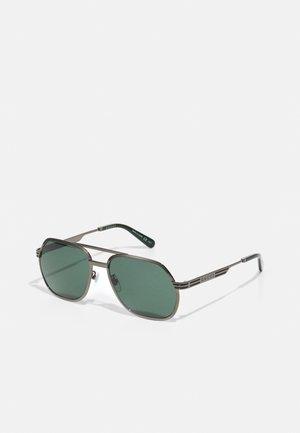 UNISEX - Sunglasses - ruthenium/green