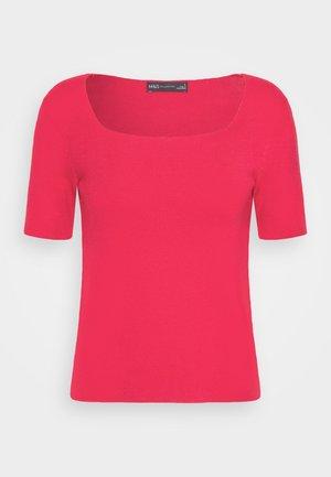 SQUARE NECK - Camiseta básica - pink