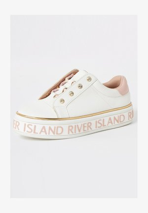 GIRLS WHITE RI LACE-UP FLATFORM TRAINERS - Sneakers laag - white