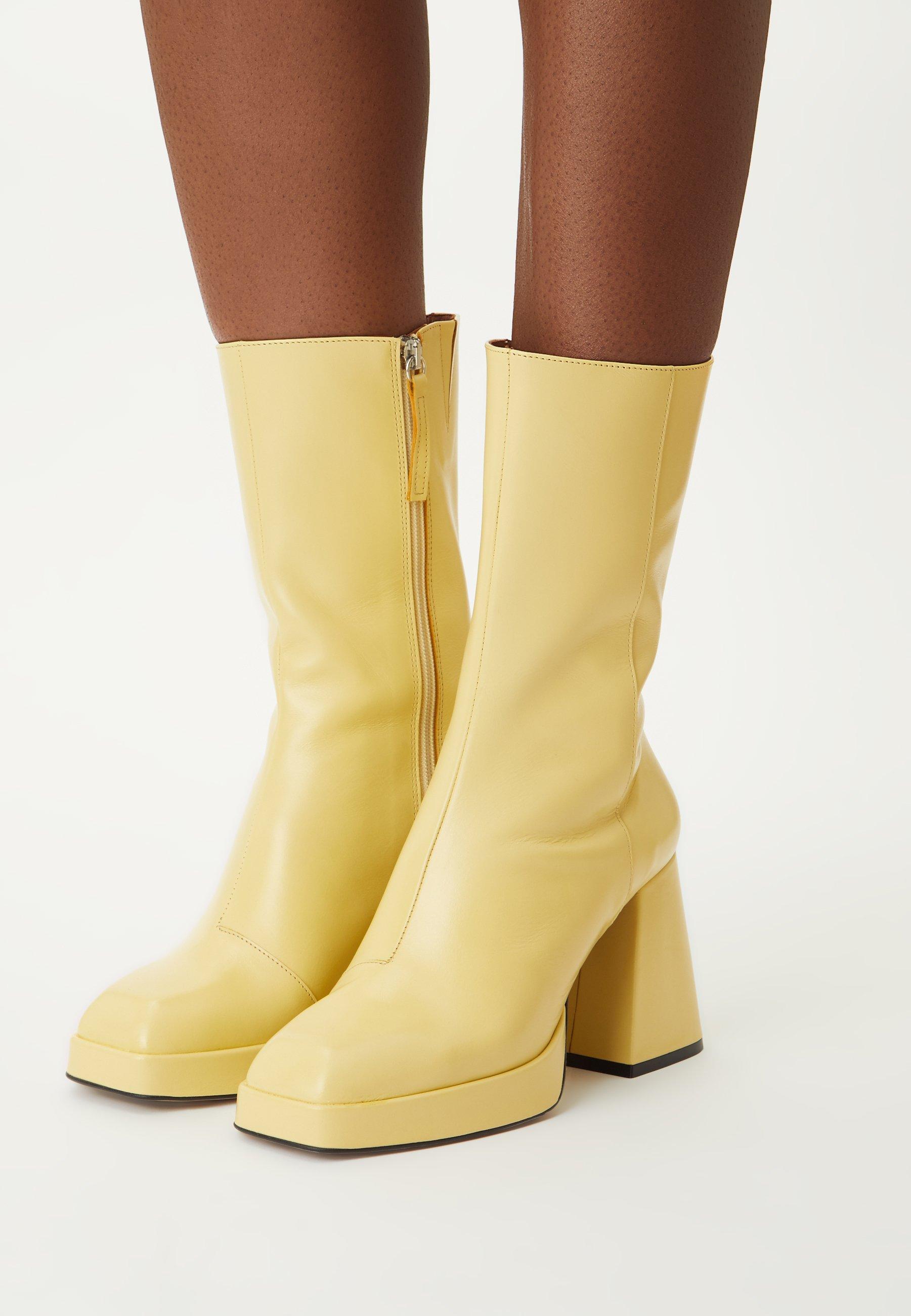 Women Platform boots - amarillo groucho