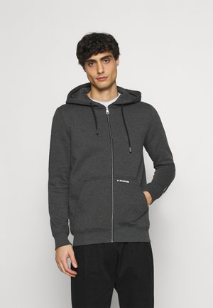 HOODY JACKET  - veste en sweat zippée - black