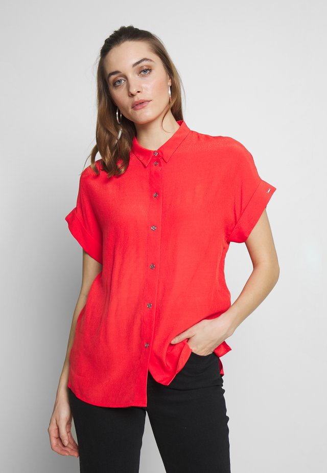 TURN UP SHIRT - Button-down blouse - orange