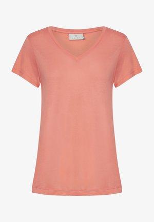 ANNA  - Basic T-shirt - fusion coral