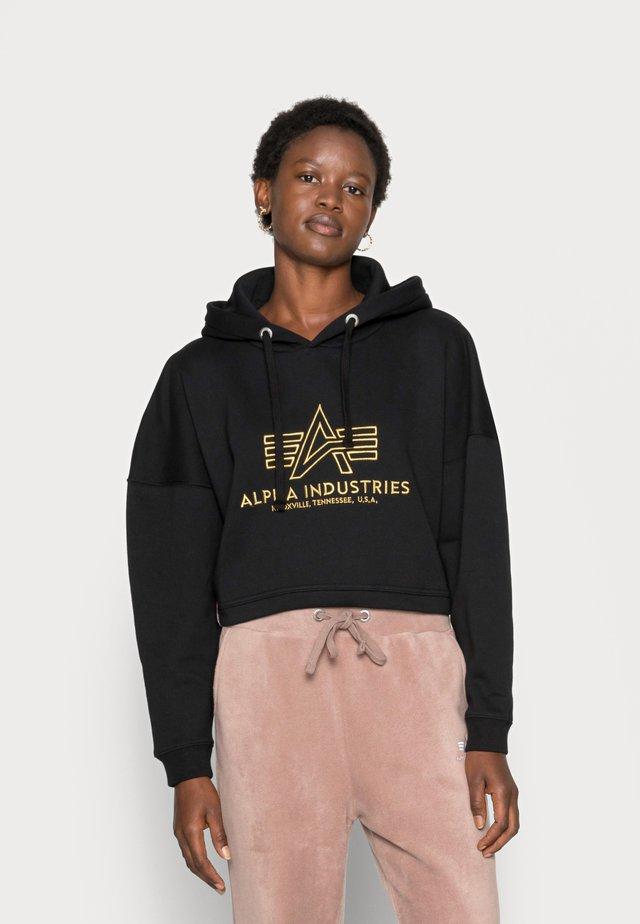 BASIC HOODY EMBROIDERY  - Sweatshirt - black