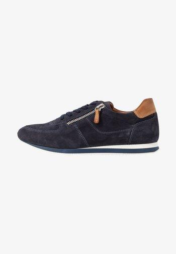 LEATHER - Baskets basses - dark blue