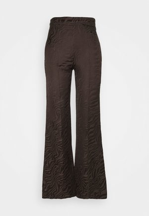 COME - Trousers - chocolat