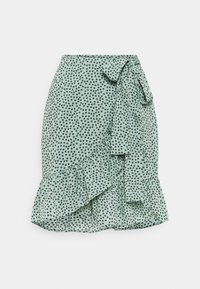 ONLY - ONLOLIVIA WRAP SKIRT - Zavinovací sukně - chinois green - 0