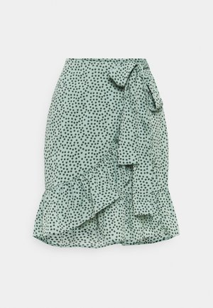 ONLOLIVIA WRAP SKIRT - Omlottkjol - chinois green