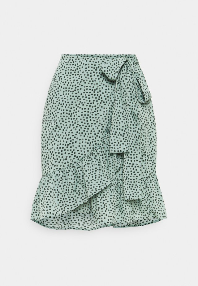 ONLOLIVIA WRAP SKIRT - Kietaisuhame - chinois green