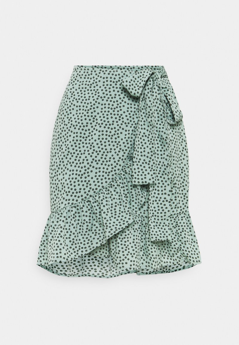 ONLY - ONLOLIVIA WRAP SKIRT - Zavinovací sukně - chinois green